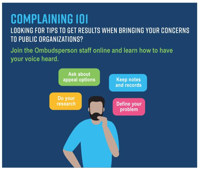 Register for our webinar Complaining 101!